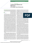2016 Zachariae Complementary and Alternative Medicine Use Among Patients With Cancer- A Challenge in the Oncologist-Patient Relationship