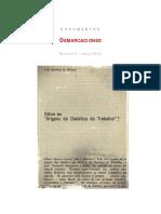 José Arthur Giannotti, Orígenes de la dialéctica del trabajo (Fragmentos)