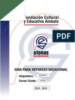 Refuerzo Vacacional 2013-2014