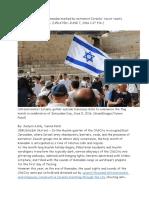 1 in Jerusalem, Eve of Ramadan Marked by Extremist Israelis' Racist Taunts