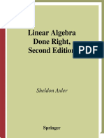 Sheldon Axler - Linear Algebra Done Right - Second Edition