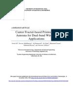 Cantor Fractal-based Printed Slot Antenna