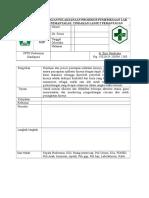 Sop Pemantauan Pelaksanaan Prosedur Pemeriksaan Lab Hasil Pemantauan, Tindakan Lanjut Pemantauan