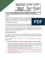 Procedimientos Clasificacion Amb. Proy. Agua y Saneamiento
