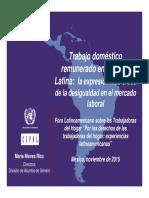 2015 Nieves Rico Trabajo Domestico Remunerado en America Latina