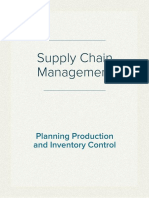 Supply Chain Management, in Planning Production and Inventory Control