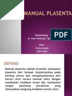 Ppt Manual Plasenta