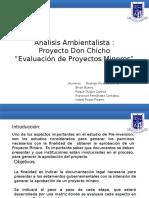 Análisis Ambientalista. Ev. de proyectos