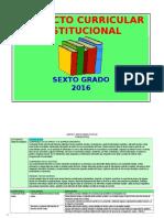 PCI  PRIMARIA 6°- 2016