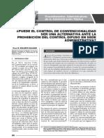 Puede El Control de Convencionalidad Ser Una Alternativa Ante La Prohibición Del Control Difuso en Sede Administrativa - Elard Ricardo Bolaños Salazar