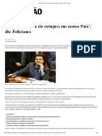 'Não Há Cultura Do Estupro Em Nosso País', Diz Feliciano