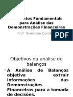 Elementos Fundamentais Para Análise Das Demonstrações Financeiras