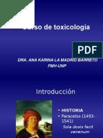 Clase 1 Toxicologia