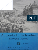 Bertrand Russell - Autoridad e Individuo