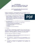 Normas Para La Presentación de Ponencias y Comunicaciones