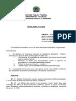 Resolução 001-2012 BDA