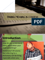 Finding Meaning in Context