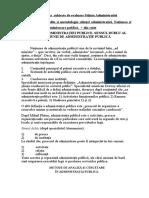 Raspuns La Subiecte de Evaluare Stiinta Administratiei