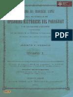 Dictadura del Mariscal López o sea un cúmulos de episodios históricos del Paraguay por Jacinto V. Vicencio Buenos Aires año 1874