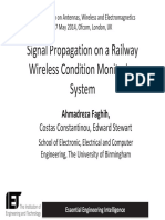 Signal Propagation on a Railway Wireless Condition Monitoring System