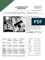 Ejercicios de Gravitación Universal