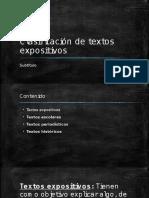 Clasificación de Textos Expositivos