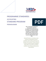 Program Standards Accounting