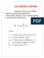 The Main Objective of the Use of WIND Turbine is Generating Electricity