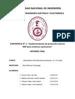 Primer Laboratorio de Telecomunicaciones IV