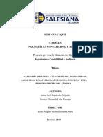 Auditoria Operativa a La Gestion Del Inventario de Empresa