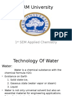 Technology Of Water