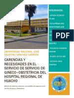 Deficiencias del Servicio de Gineco-obstetricia Hospital en el Regional de Huacho