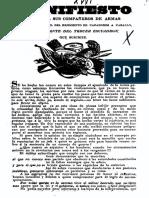 Manifiesto Que Da a Sus Compañeros de Armas, El Tcl. Del Regimiento de Cazadores a Caballo, Cdte. Del 3er Escuadrón Que Suscribe, Tcl. Lorenzo Luna. (1833)