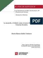 La Moneda, El Objeto Como Recurso Didactico en Las Ciencias Sociales - TFE000153