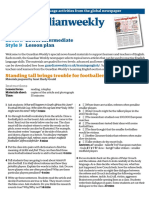 Lower intermediate lesson plan (March)