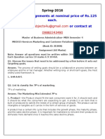 MK0015-Services Marketing and Customer Relationship Management