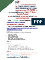 [2016-Jun-New]Oracle 1Z0-052 Braindump 261q Offer