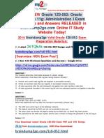 [2016-Jun-NEW]Oracle 1Z0-052 Exam Dumps 261q Offer