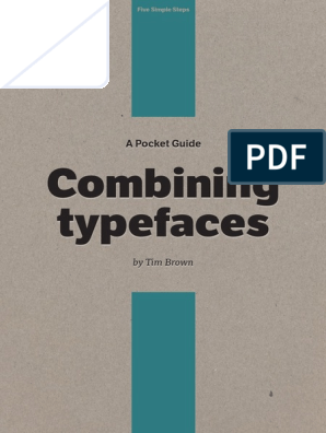 A Pocket Guide to Combining Typefaces