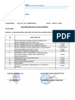 Master Receipt of Document