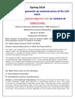 MK0018 International Marketing