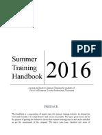 Summer Training Handbook 2016