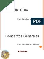 1 Conceptos Generales Historia