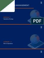Operations Management Module