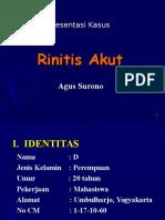Presentasi Kasus Rhinitis Akut
