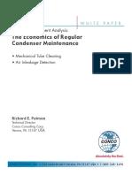 Return Investment Analysis Economics Regular Condenser Maintenance