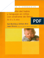 Desarrollo Del Habla y Lenguaje en El Nino Con Sindrome de Down 0 a 3 Anyos - Perera y Otros - Libro
