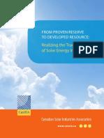 Realizing the True Value of Solar Energy in Alberta