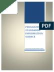 Program Standards_Information Science