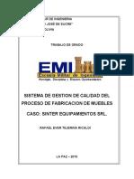 SISTEMA DE GESTIÓN DE CALIDAD DE FABRICACIÓN DE MUEBLES CASO SINTER EQUIPAMIENTOS SRL..pdf